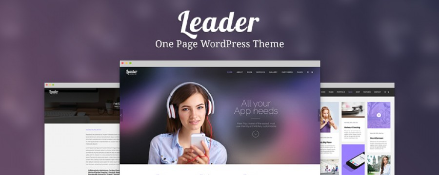 Leader: One Page Theme Designed with a Modern Flair