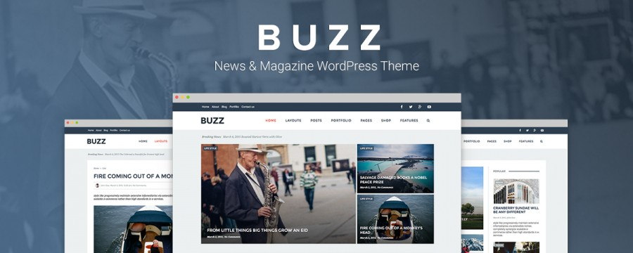 Buzz – Magazine Styled WP Theme